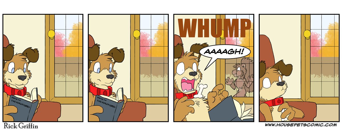 No squirrels were harmed in the making of this comic